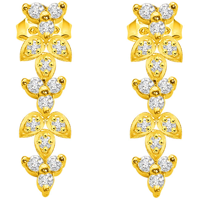 Fairy Style 0.75 ct Classic Diamond Earrings