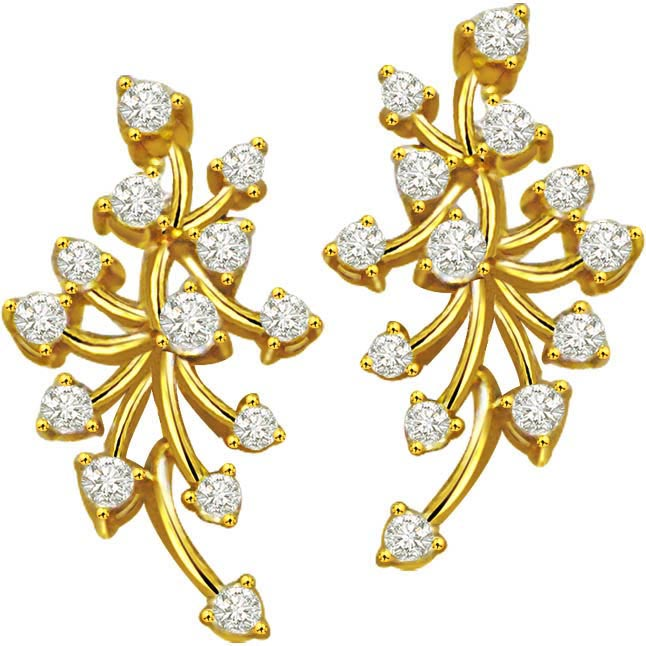 Sparkling Fairy W 1.04 ct Diamond Classic Earrings -Designer Earrings