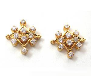 Sparkling Diamond Designer Earrings ER -16 -Geometrical