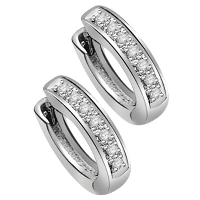 Twist in Style Diamond Hoop Earrings -Balis & Hoops
