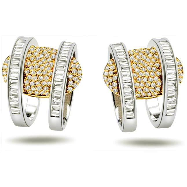 Wonder Whirls 0.80 ct Diamond Balis Earrings -Balis & Hoops