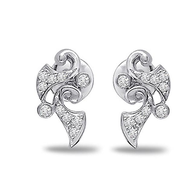 Flower Fascination Diamond Earrings -Designer Earrings
