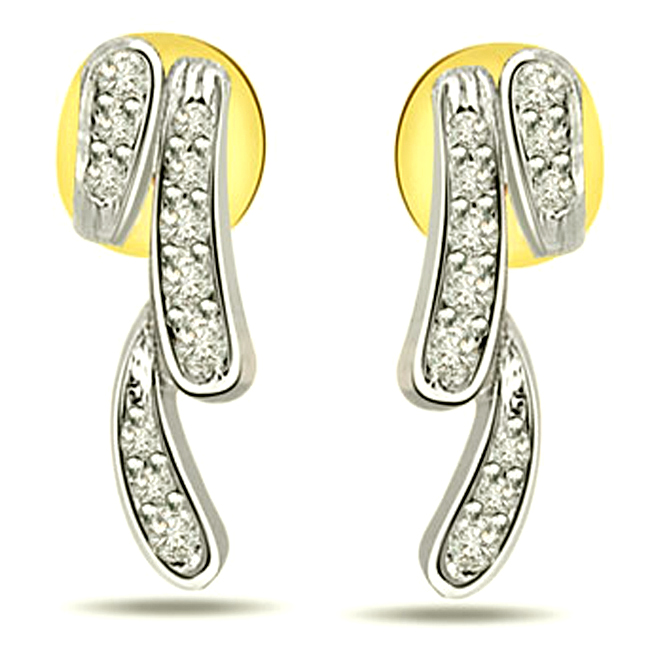 Decorous Real Diamond Earrings for Her -Designer Earrings