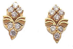 Cute n Charming Diamond Earrings -Designer Earrings