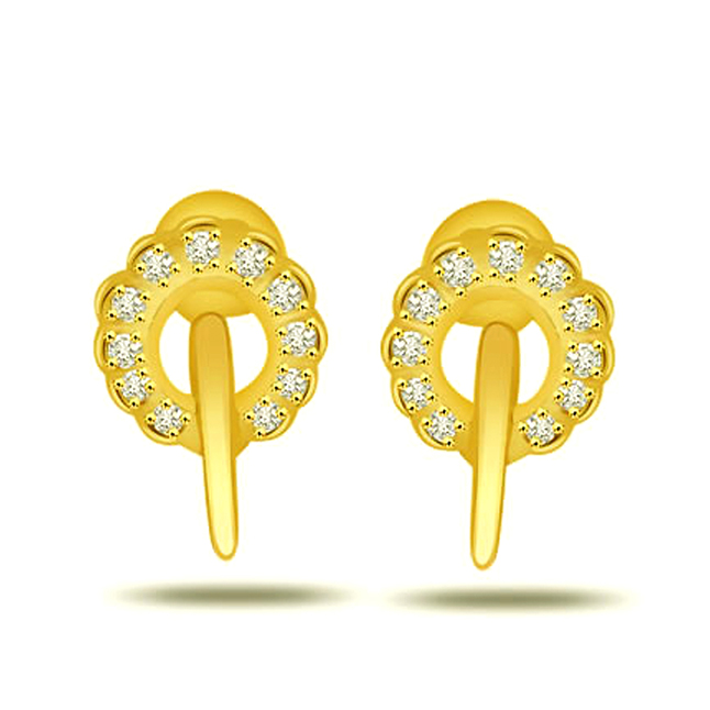 Rounding Beauty 0.22ct Fine Diamond Earrings -Designer Earrings