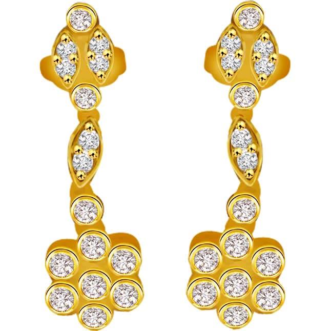 Diamodns Forever 0.56ct Diamond Hanging Earrings