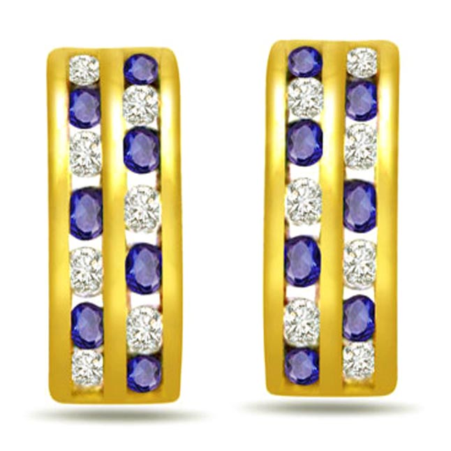 You Are My Future Diamond & Sapphire Earrings