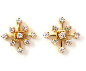 Dream Diamond Beauty Flower Shaped Earrings -Geometrical