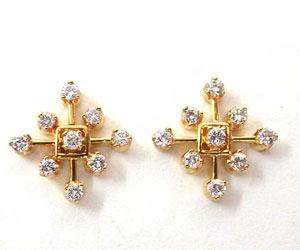 Dream Diamond Beauty Flower Shaped Earrings -Geometrical