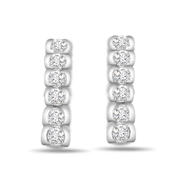 Night Beauty 0.30 ct Diamond White Gold Earrings