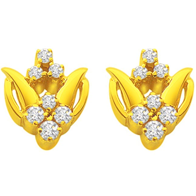 Simply the best -Diamond Earrings -Designer Earrings