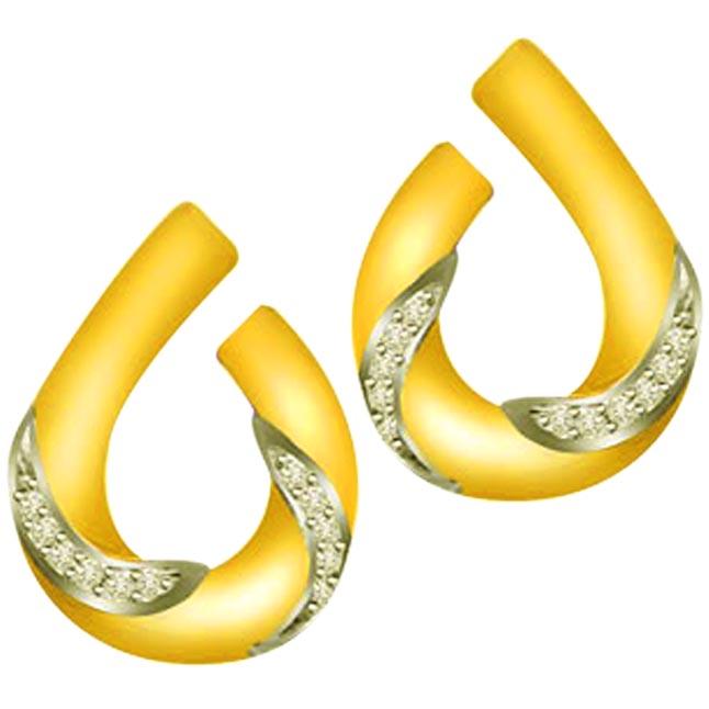 Floating Lights 0.22ct Diamond Gold Earrings ER292 -Designer Earrings