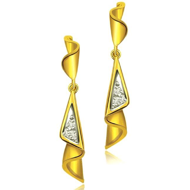 0.12ct Diamond Fancy Earrings