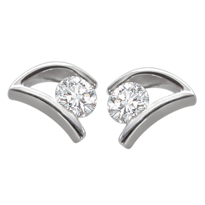 Perfect Proposal Diamond Earrings -White Rhodium