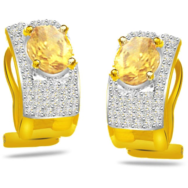 0.50ct Fancy Diamond Earrings -Designer Earrings