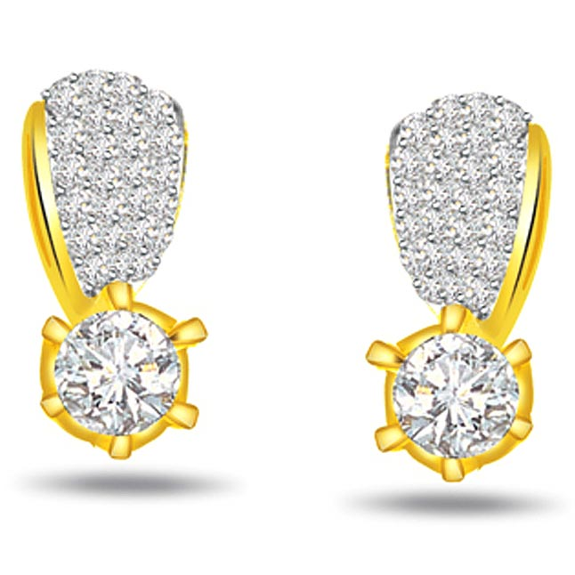 0.64ct Diamond Classic Earrings -Designer Earrings