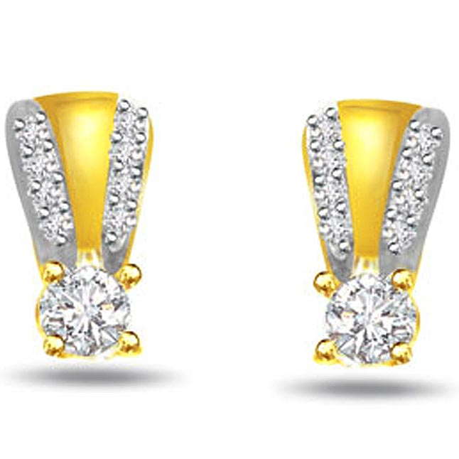 0.65ct Fine Diamond Earrings -Designer Earrings
