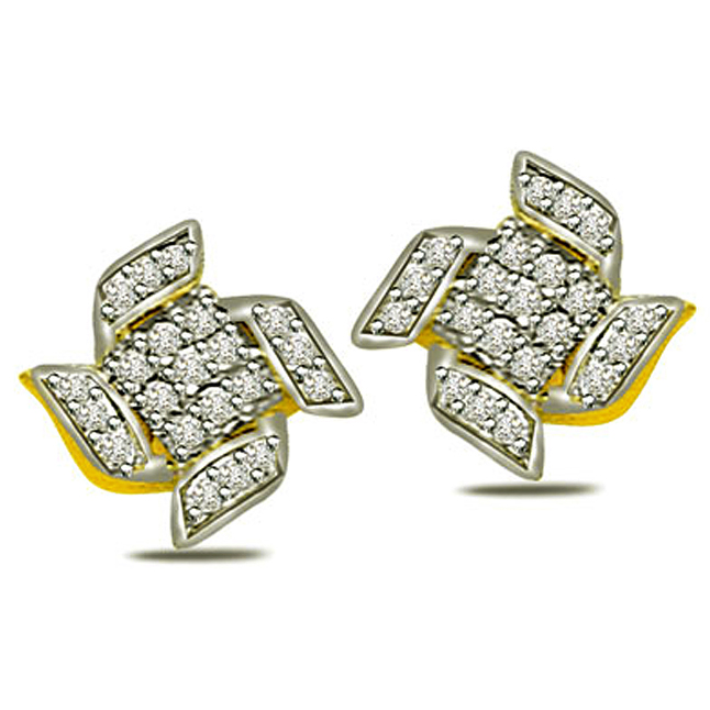 1.00ct Diamond Classic Earrings -Designer Earrings
