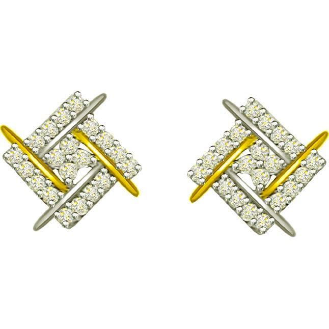 1.00ct Diamond Fancy Earrings -Designer Earrings