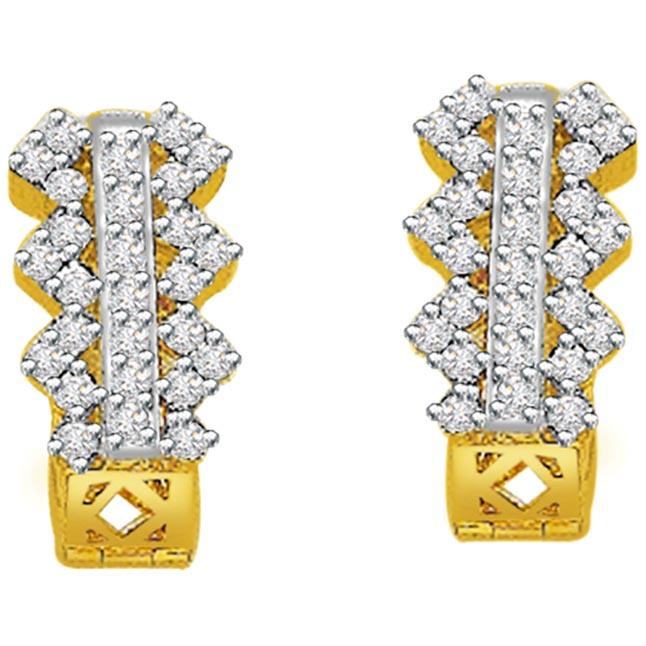 0.75ct Diamond Gold Earrings -Balis & Hoops