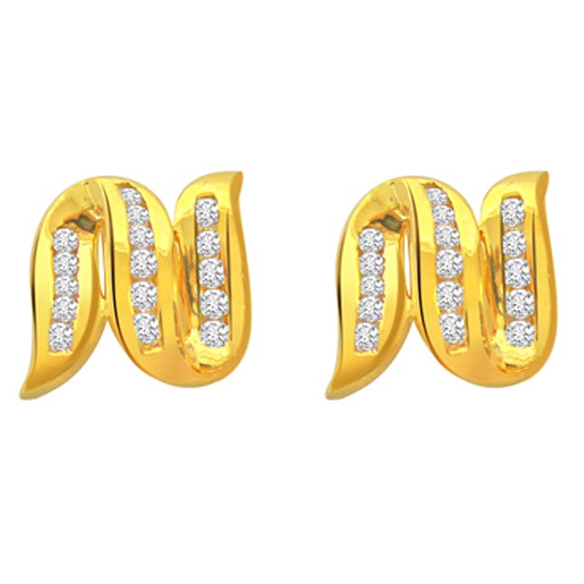 Devourings Diamond Earrings -Designer Earrings