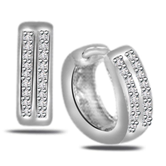 0.54ct Diamond Hoop Earrings -Balis & Hoops