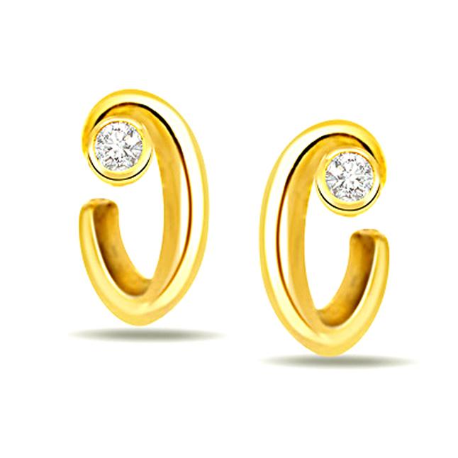 0.10ct Diamond Stud Earrings -Solitaire Earrings