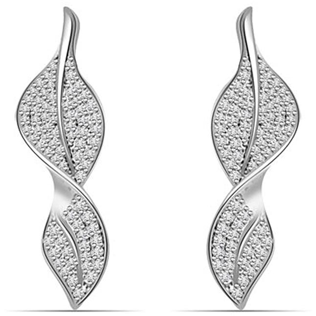 1.00 cts White Gold Diamond Designer Earrings -Designer Earrings