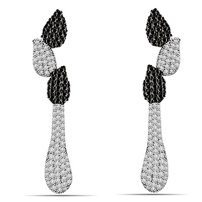 0.75 cts White Gold Diamond Earrings