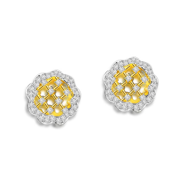 0.78 cts Diamond Kudajodi 18K Earrings -Kudajodi