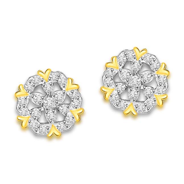 0.40 cts Diamond Kudajodi 18K Earrings -Kudajodi