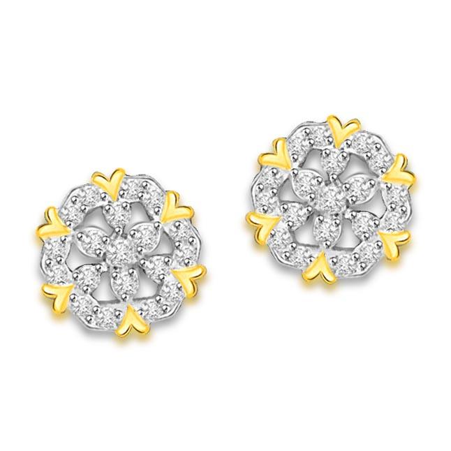 0.40 cts Diamond Kudajodi 18K Earrings -Kudajodi