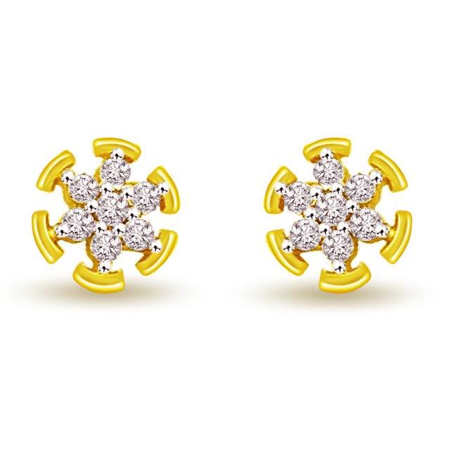 0.46 cts Diamond Kudajodi 18K Earrings -Kudajodi