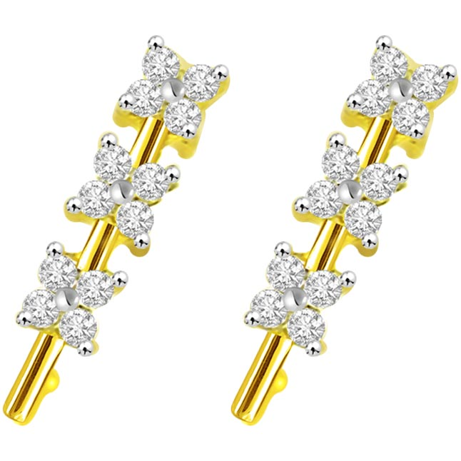 0.48 cts Diamond Designer 18K Earrings -Kudajodi