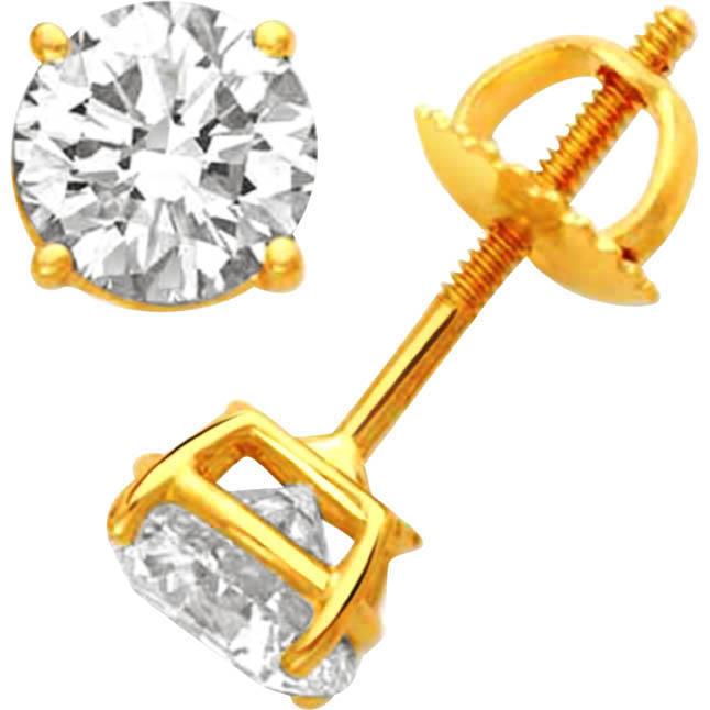Magical Mantra Diamond Earrings -Solitaire Earrings