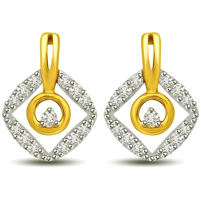 Eye Behold:Two Tone Gold & Diamond Earrings for Her -Two Tone Earrings