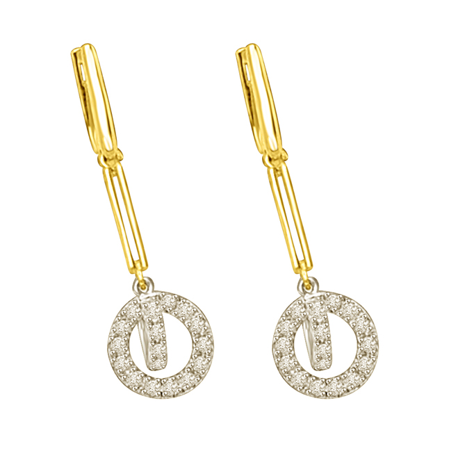Dangling Rounds Long & Hanging Diamond Earrings Pair For Her