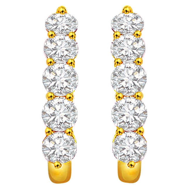 Beautiful Bling Diamond Balis -Balis & Hoops