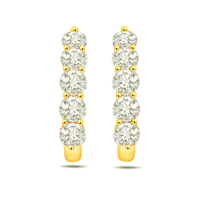 Angel Magical Stick Diamond Bali Earrings -Balis & Hoops