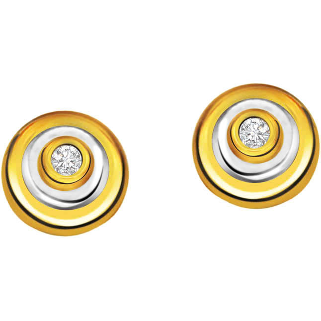 Circle of life ER -80 -Two Tone Earrings