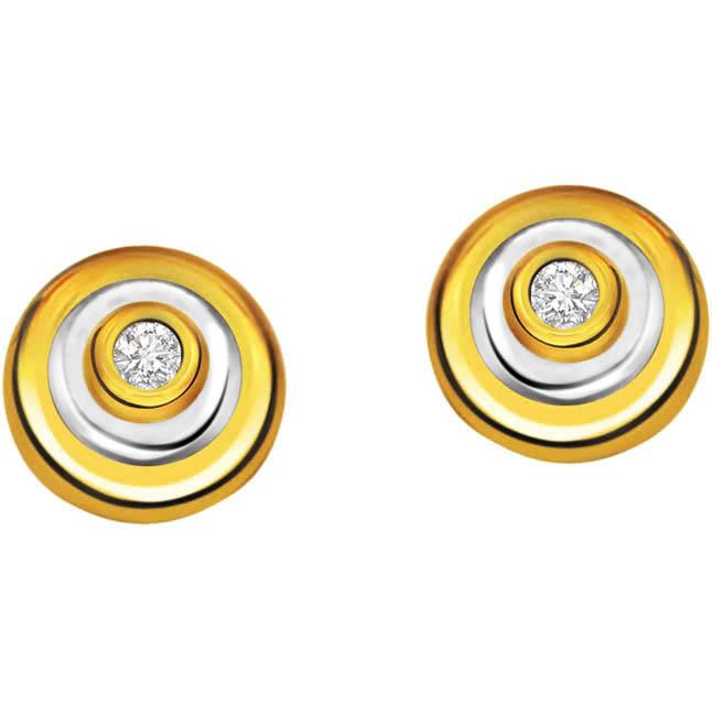 Circle of life ER -80 -Two Tone Earrings