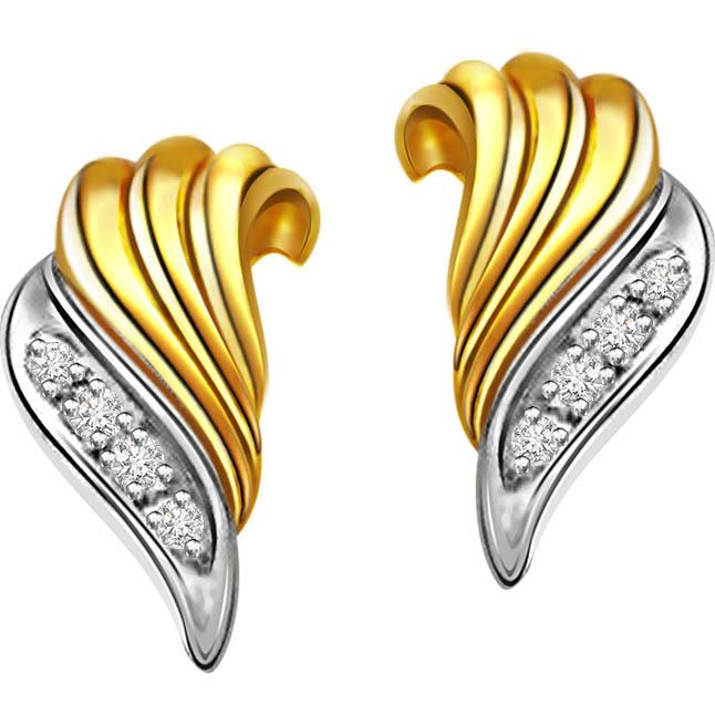 Pretty Pears -Two Tone Earrings