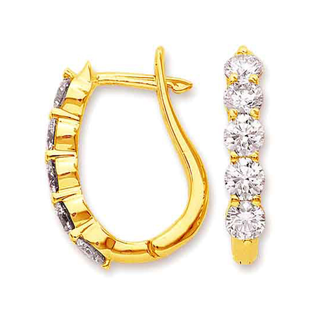 Elegant Enchantress Diamond Earrings -Balis & Hoops