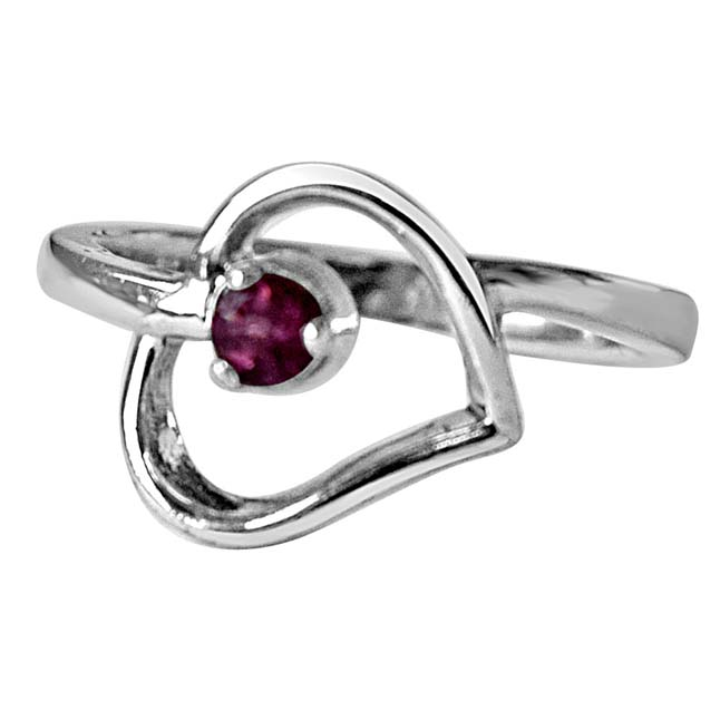 Eternal Elegance -Round Pink Tourmaline Gemstone 925 Sterling Silver rings
