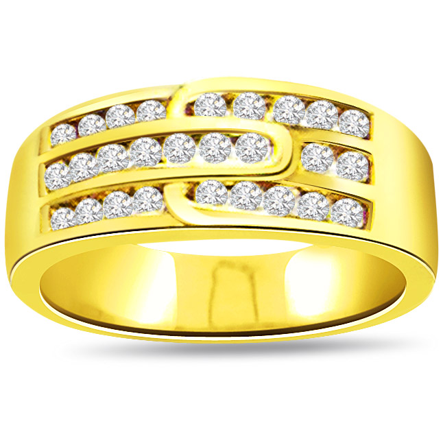 0.50 cts Diamond Gold Eternity rings -Yellow Gold Eternity rings