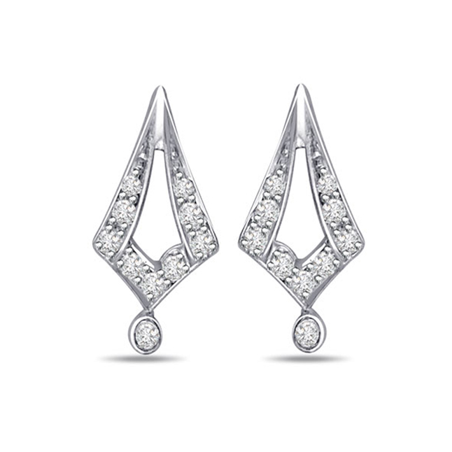 Eve Diamond Earrings -Designer Earrings