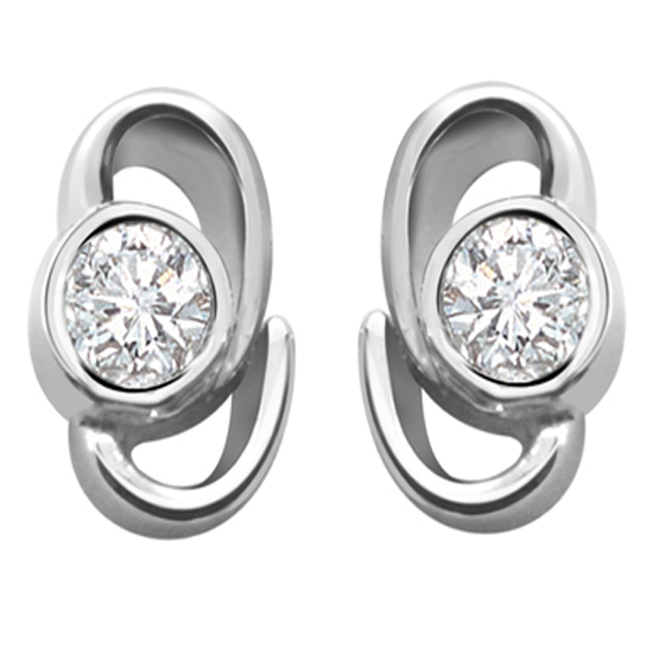 Eve Diamond Earrings ER30 -White Rhodium