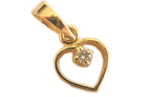 Evening Beauty Solitaire Diamond Pendants in 18Kt Gold