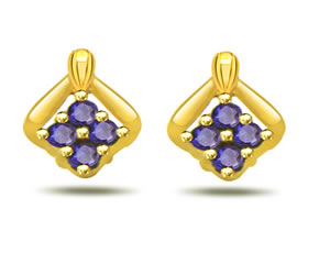 Fab Flora Magic 0.24ct Sapphire Earrings -Dia & Gemstone