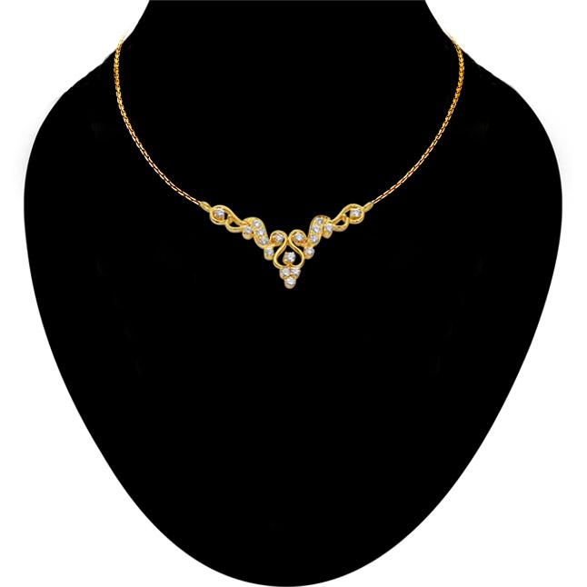 Fairy Tale 0.45ct Diamond 18kt Gold Necklace Pendants Necklaces